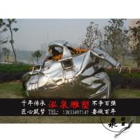 不锈钢金属创意仿真书包手提包花盆雕塑公园草坪广场迎宾装饰摆件