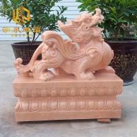 石雕貔貅晚霞红庭院风水雕塑