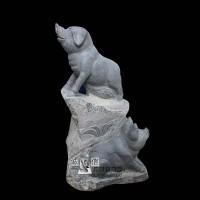石雕猪青石生肖动物雕塑厂家直销