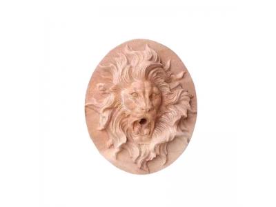石雕狮子头喷水庭院墙面浮雕壁挂艺