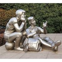 求不锈钢人物雕塑一组