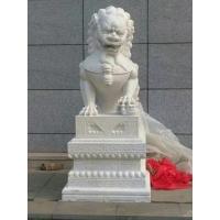 求大型汉白玉石雕狮子一组(要现货)