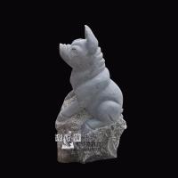 石雕生肖 猪动物雕塑