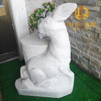 石雕兔子十二生肖动物雕塑厂家定制销售