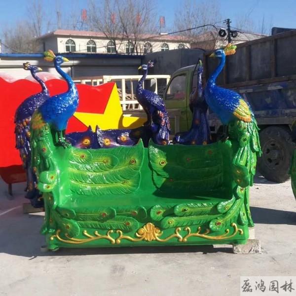 郴州磊鸿园林玻璃钢雕塑生产厂家 园林玻璃钢雕塑定制生产 卡通动物雕塑装饰