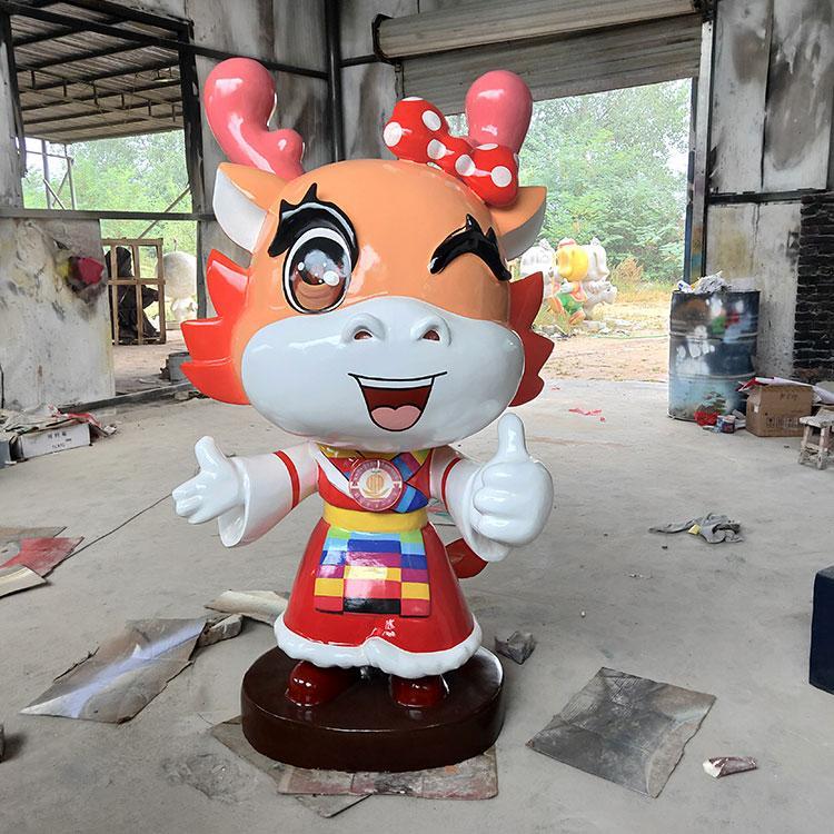 传统玻璃钢吉祥物雕塑定制 卡通落地摆件 玻璃钢卡通玩偶,鹏钊