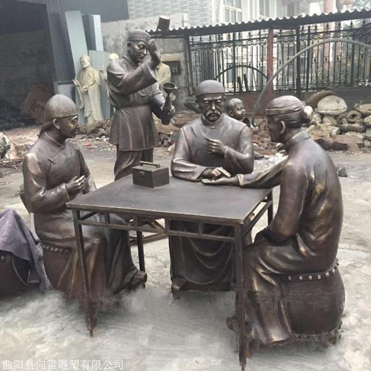 广场仿古人物铜雕铸造厂 景观民俗人物雕塑摆件 圣喜玛