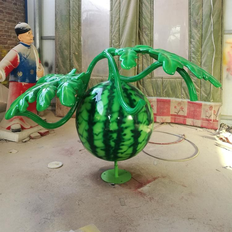 玻璃钢西瓜雕塑摆件 仿真水果蔬菜定制,鹏钊