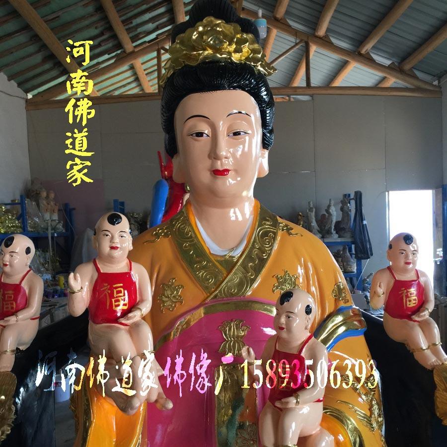 河南佛像雕塑厂 桃花圣母佛像图片 金花教主神像 九龙圣母佛道家示例图1