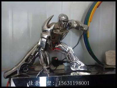 武汉不锈钢机器人雕塑,公园不锈钢雕塑厂家