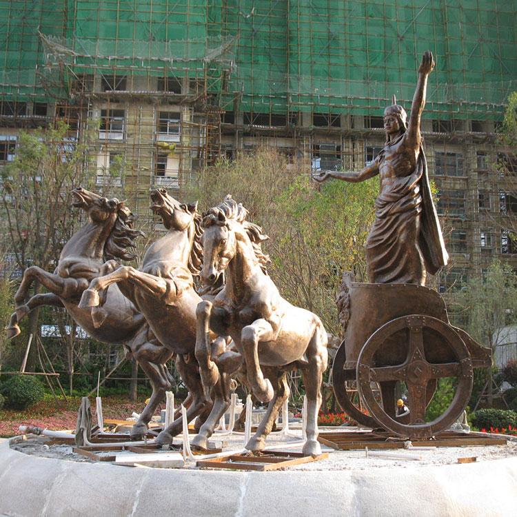 玻璃钢广场雕塑 太阳神阿波罗雕塑 玻璃钢战车雕塑,鹏钊