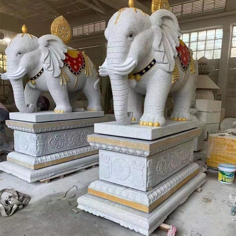 大象雕塑 动物雕刻 花岗岩石雕大象 酒店门口招财象 大型动物石雕