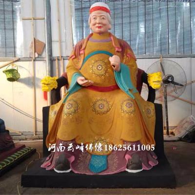 河南云峰佛像订做土地公土地婆2米 玻璃钢彩绘神像 土地爷土地奶神像 雕塑