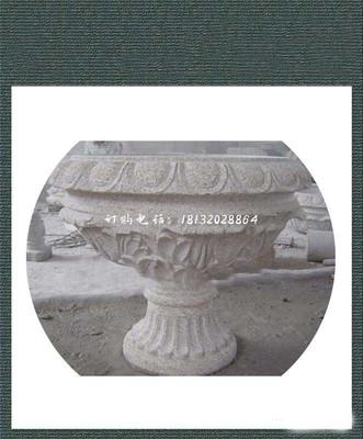 石雕花盆,大理石公园景观雕塑