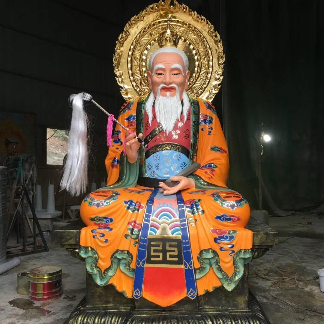 道教始祖太上老君神像 道家祖师三清神像雕塑
