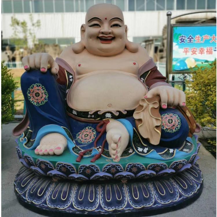 大型弥勒佛铜像制造厂 贴金彩绘弥勒佛铜像 圣喜玛