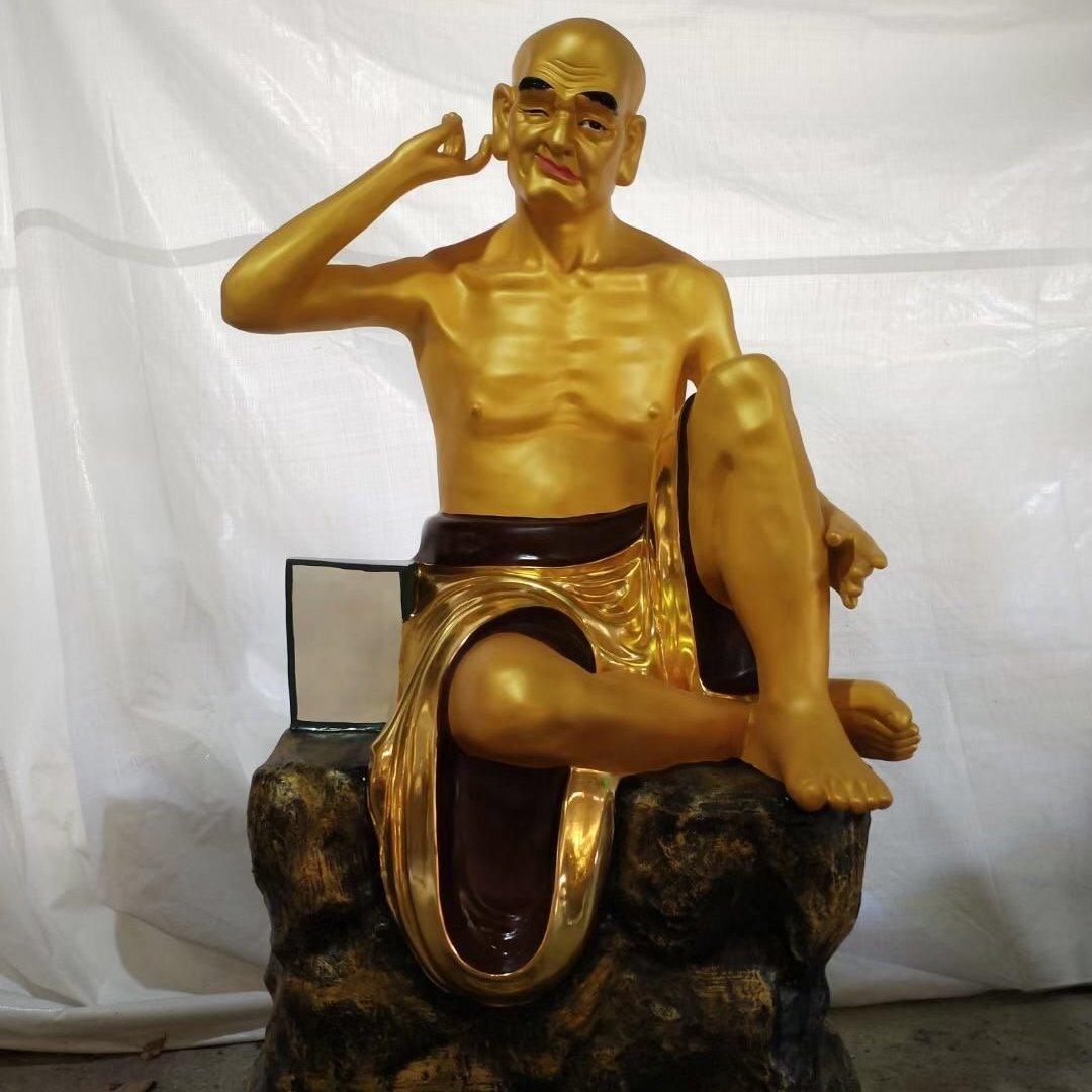 十八罗汉佛像 禅院佛雕像贴金佛像