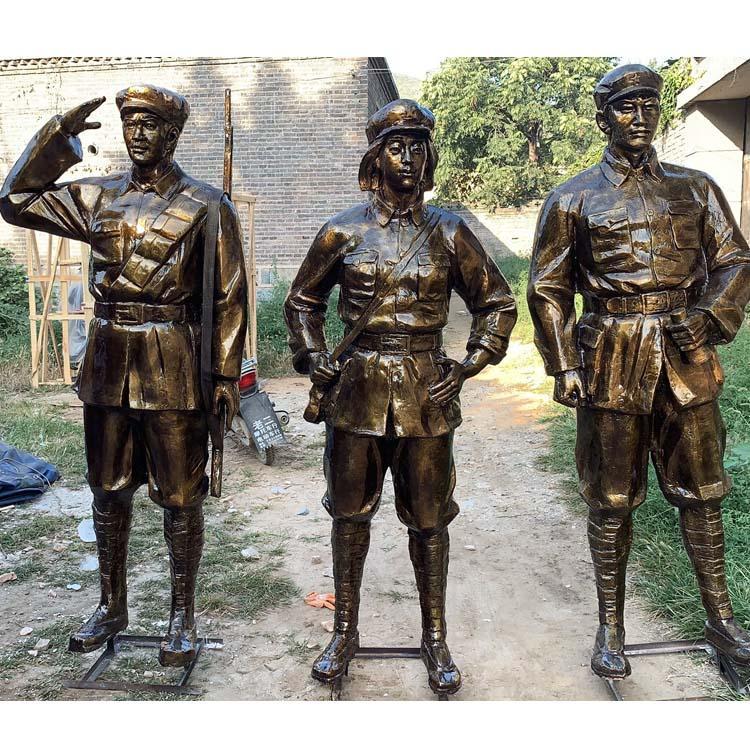 河北铜雕厂家定制 景观人物雕塑 红色主题雕塑 圣喜玛