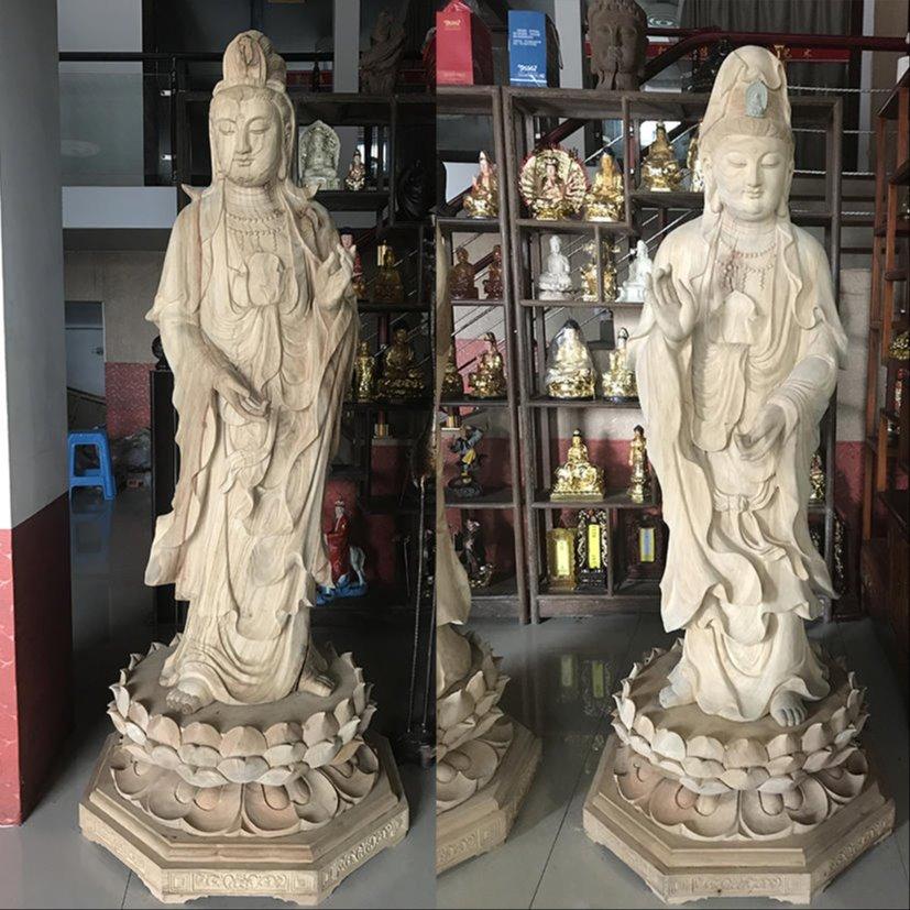 寺庙木雕佛像 西方三圣佛像雕刻加工