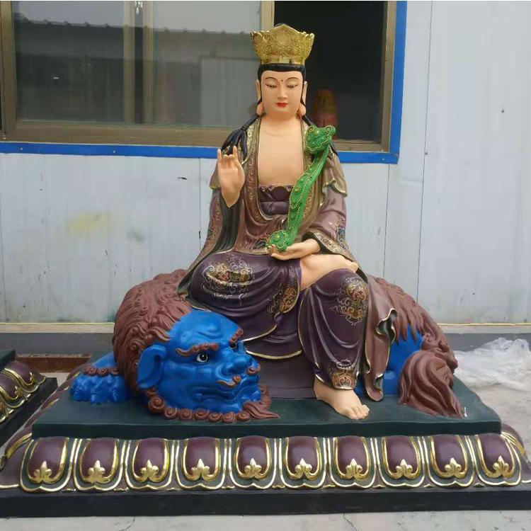 大型铜文殊菩萨雕塑加工厂 寺庙菩萨定做厂家 圣喜玛