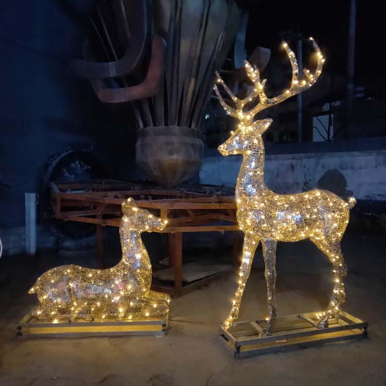 铜雕梅花鹿定制 广场铜雕鹿生产厂家 圣喜玛