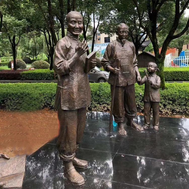 大型铸铜人物雕塑 景观园林小品雕塑摆件 圣喜玛