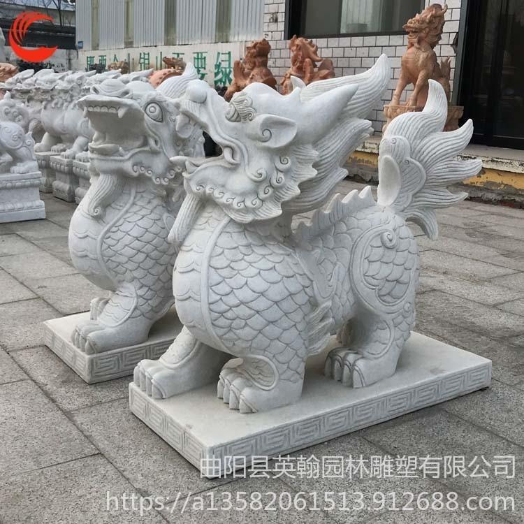 石雕汉白玉貔貅 工艺品摆件 艺品装饰雕塑