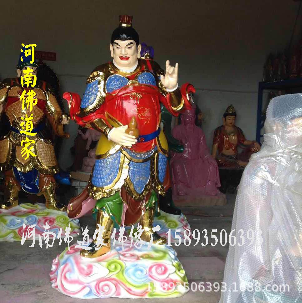 护法天神佛像 玻璃钢佛像 厂家销售 树脂佛像批发 四大金钢雕塑示例图4