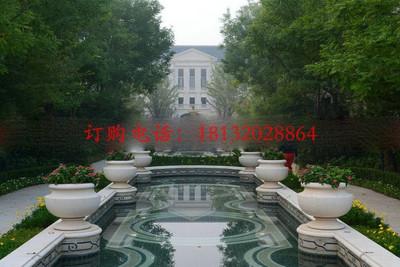 酒店石雕花盆 景观石雕
