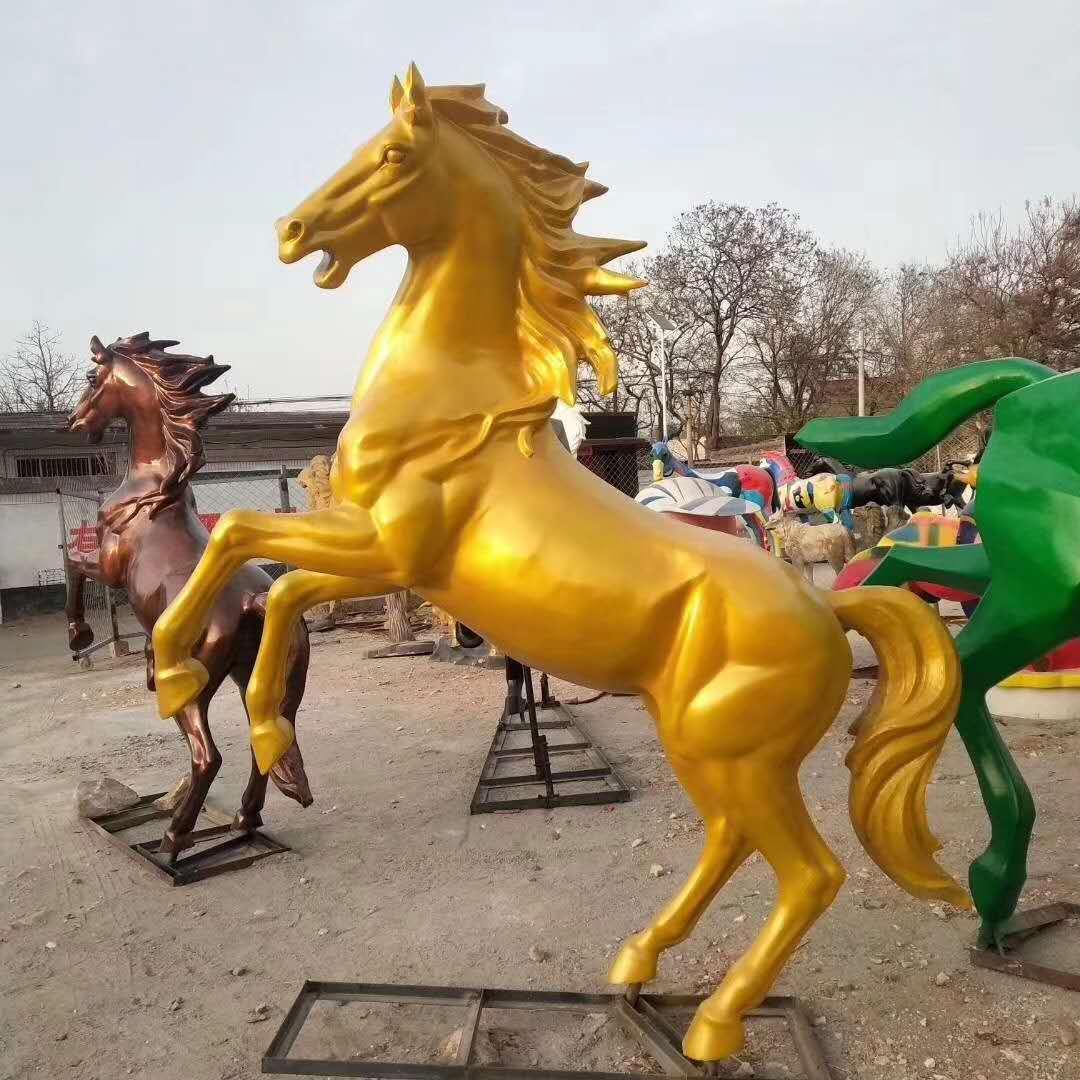 大型铜飞马雕塑制作厂家 动物雕塑定制 圣喜玛