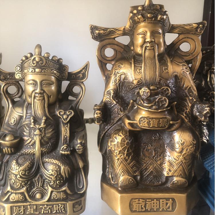 厂家供应五路财神爷铜像 铸铜财神爷雕塑 圣喜玛