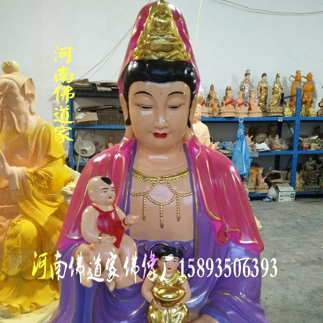 白衣菩萨1.8米 河南南海观音老母佛像总厂 十二老母 白衣观音图片示例图4