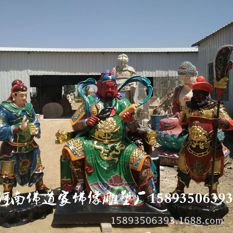 河南专业佛像厂家批发 春秋关公神像 珈蓝菩萨佛像的详细介绍示例图1