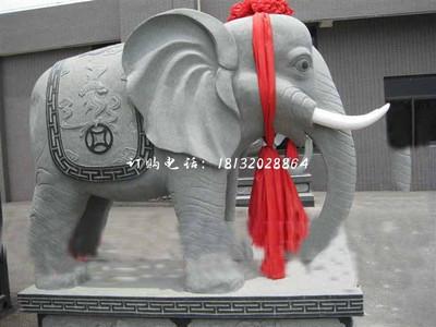 大理石招财大象雕塑,企业门口石雕大象