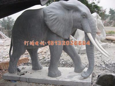 石雕大象,动物雕塑