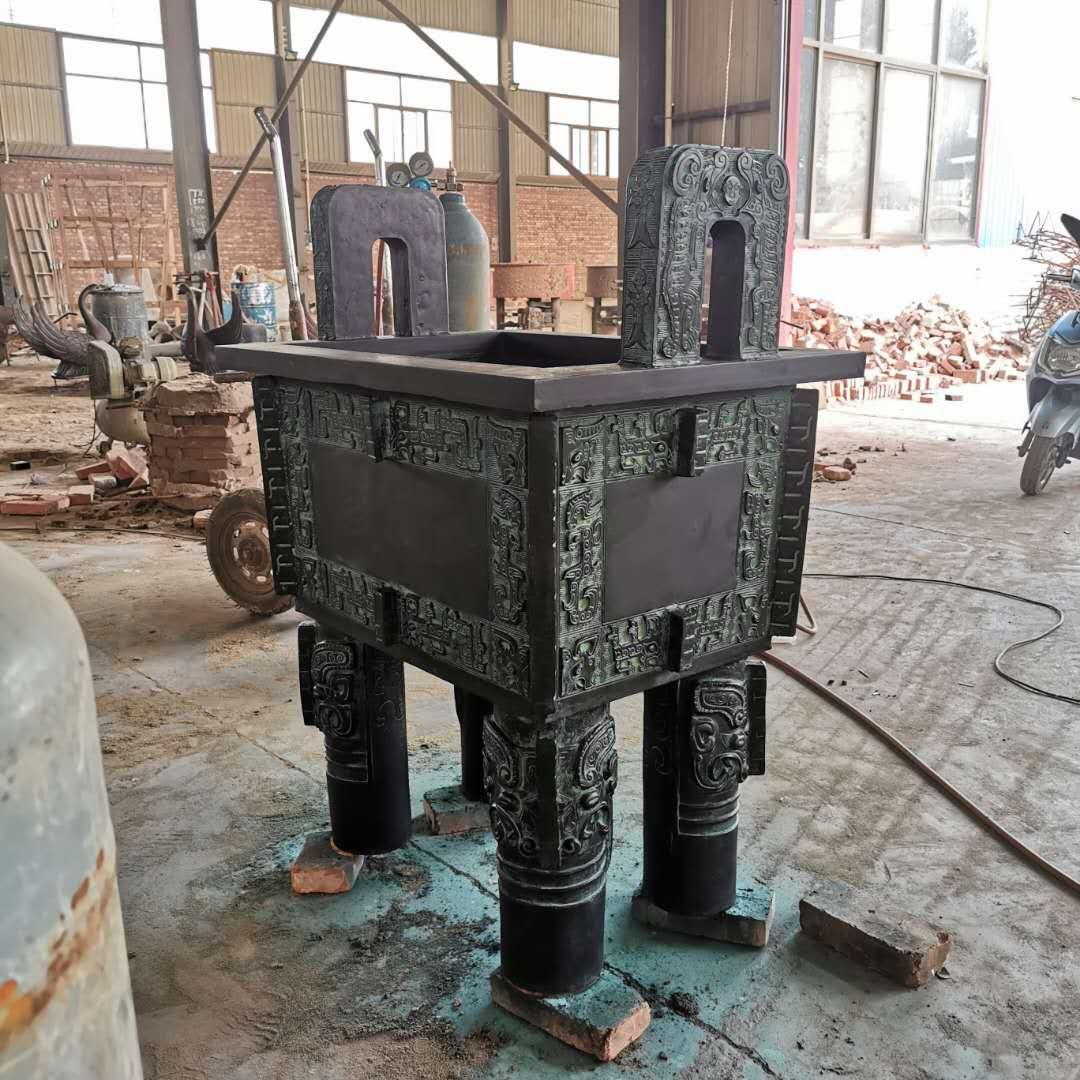厂家供应方形铜鼎 室内铜鼎摆件 圣喜玛