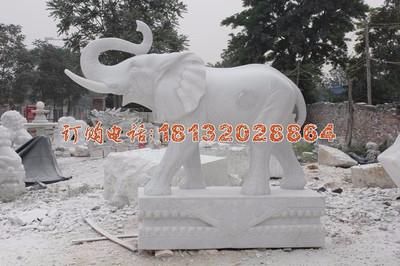 汉白玉大象石雕,门口石雕大象