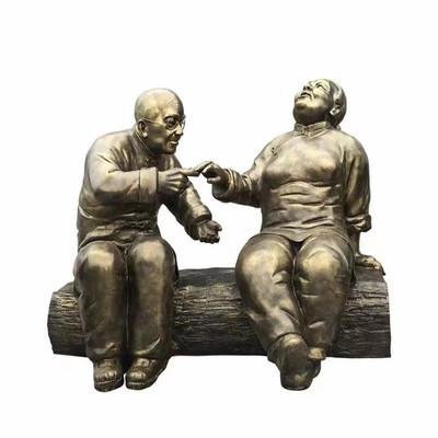 公园休闲人物雕塑 玻璃钢携手一生主题雕塑 益丰玻璃钢雕塑厂