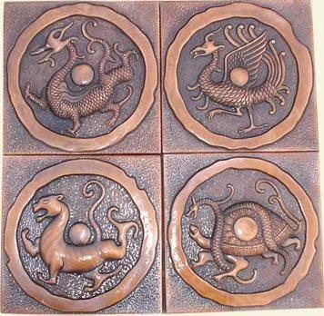 河北紫铜浮雕地雕生产厂家 青铜色地雕 圣喜玛
