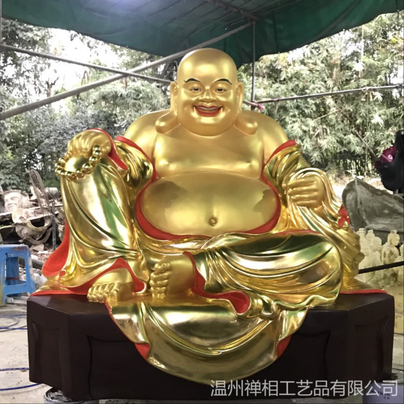 弥勒佛佛像雕塑 寺庙弥勒菩萨佛像定制