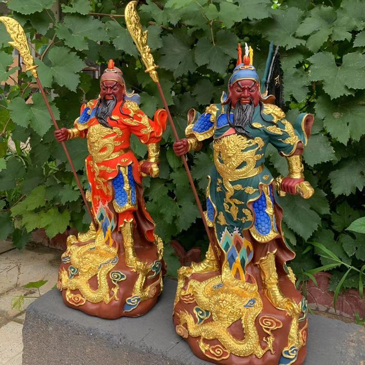 大型带刀铜关公定做 开光拿刀铜关公铸造厂 圣喜玛