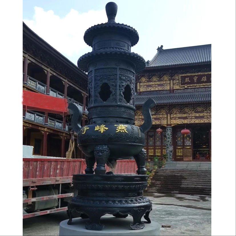寺院铸铜宝鼎厂家 二层宝鼎定制