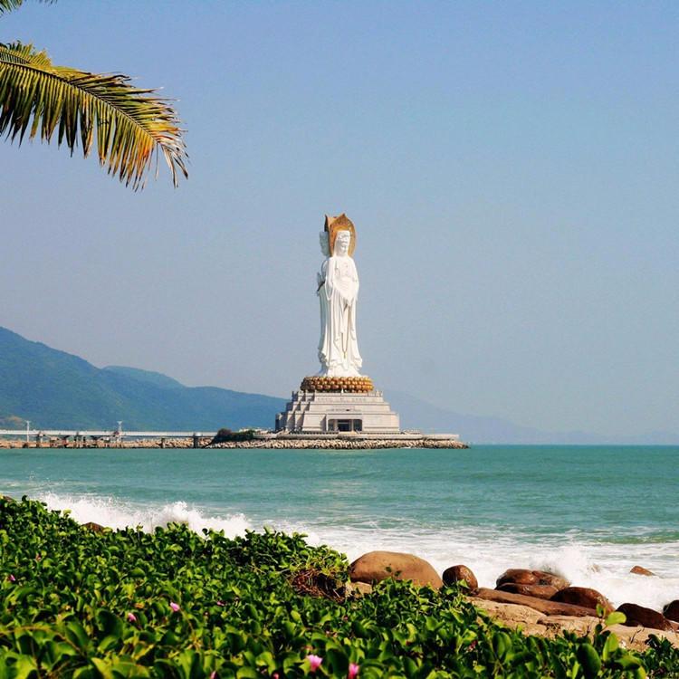 供应大型石雕佛像 大理石南海观音雕塑 汉白玉滴水观音佛像 寺庙佛像人物定制