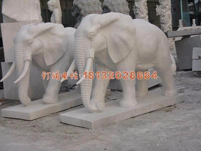 石雕大象,公园动物石雕
