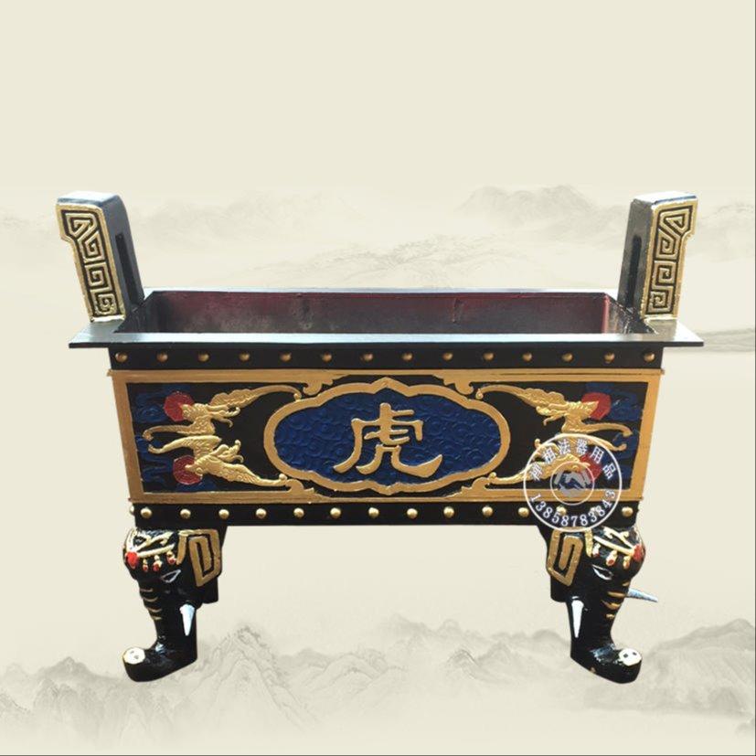 寺庙长方形香炉 禅相法器定制