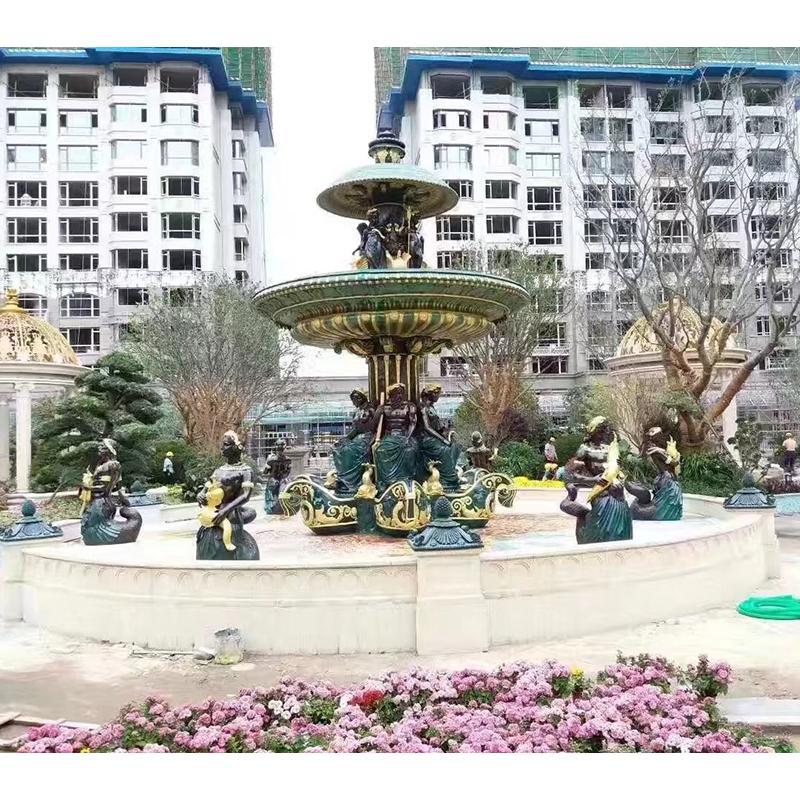 城市小区不锈钢雕塑喷泉 景观园林雕塑 圣喜玛