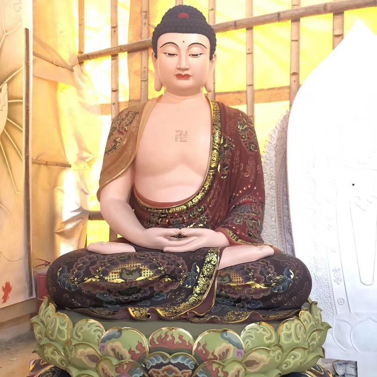 纯铜佛像厂家 西方三圣铜佛像 铜佛像定制 圣喜玛