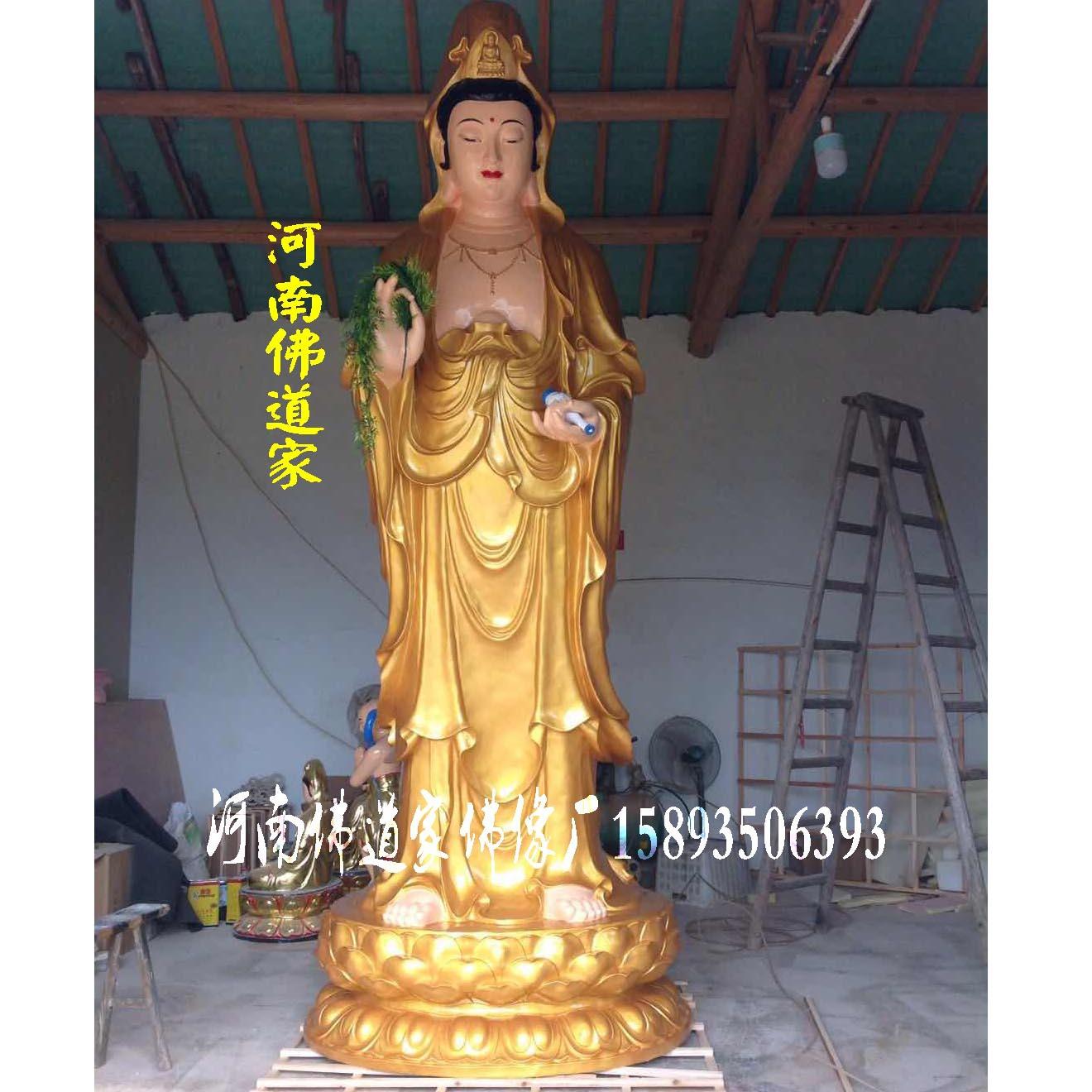 佛教东方三圣佛像厂家 三圣神像价格 释迦三尊 日光菩萨 月光菩萨示例图3