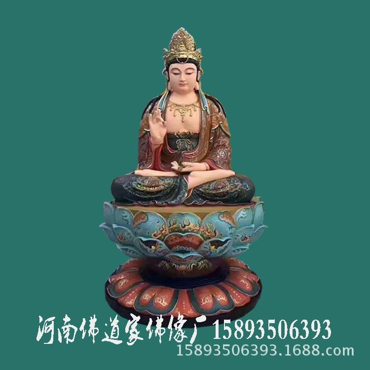 河南树脂佛像雕塑 西方三圣 阿弥陀佛 观世音菩萨 大势至菩萨像示例图1