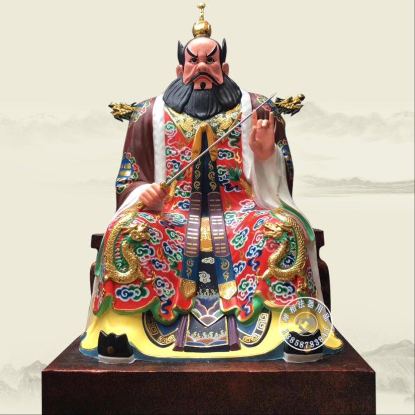 佛像雕塑厂定制 大型张天师像 彩绘张道陵天师神像